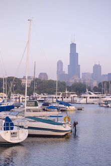 Illinois, Chicago, Skyline including Sears Tower