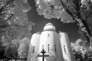 Infrared image of the Church of the Assumption of Our Lady, Uspensky Convent