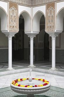 Interior of the famous Mamounia hotel in Marrakech