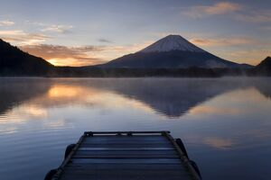 Lake Shoji-ko & Mount Fuji, Fuji-Hakone-Izu National Park, Japan