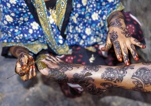 Lamu women are expert in intricate hand and body designs