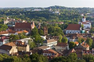 Lithuania, Vilniusview over the Old Town