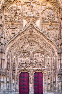 Main facade of New Cathedral, Salamanca, Castile and Leon, Spain