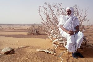 Mauritania, Tagant, Mauritanian guide in the desert