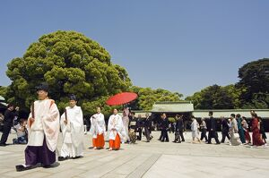 Meiji jingu Shrine 20th Century priest bride groom