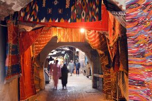 Morocco Marrakesh medina market at Place