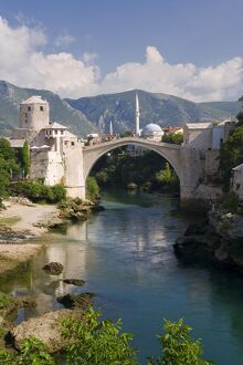 Mostar & old Bridge over the Neretva river, Bosnia and Herzegovina
