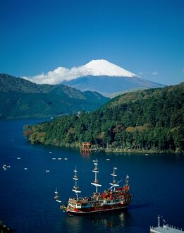 Mount Fuji & Lake Ashi, Hakone, Honshu, Japan