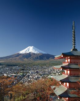 Mount Fuji & Pagoda, Honshu, Japan