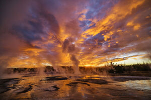 North America, USA, Rocky Mountains, Yellowstone National Park, UNESCO World Heritage