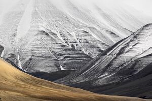 Norway, Svalbard, arctic slopes in Isfjord
