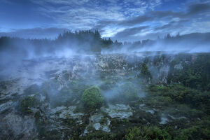 Oceania, New Zealand, Aotearoa, North Island, Craters of the Moon, Thermal Area