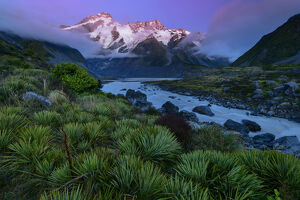Oceania, New Zealand, Aotearoa, South Island, Mount Cook National Park, Mount Sefton