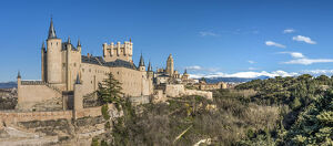 Panoramic view, Segovia, Castile and Leon, Spain