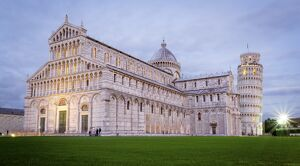 tuscany/pisa campo dei miracoli tuscany cathedral leaning