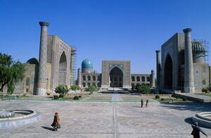 The Registan Square, built in 15th to 17th century