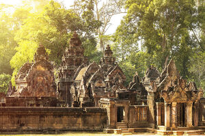 Southeast Asia, Cambodia, Siem Reap, Angkor temples, the Khmer Hindu temple at Banteay