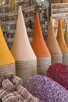Spices in market, Mellah district, Marrakesh, Morocco