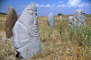 Stone Balbals or tomb markers