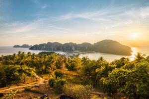 Ton Sai village and Ao Lo Dalam from the viewpoint in Ko Phi Phi Don (Phi Phi Island)
