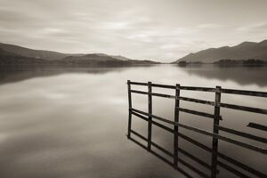 serene landscapes/tranquil derwent water dusk lake district cumbria