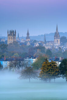 UK, England, Oxfordshire, Oxford, City skyline from South Park