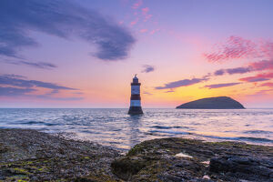 UK, Wales, Anglesey, Penmon, Black Point, Trwyn Du Lighthouse (Penmon Lighthouse)