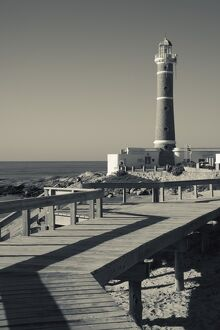 Uruguay, Faro Jose Ignacio, Atlantic Ocean resort town, village lighthouse