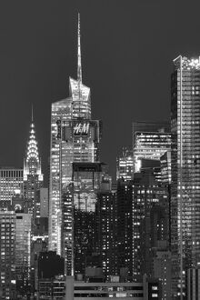 USA, American, New York, Manhattan , Hudson River, Midtown with Chrysler Building