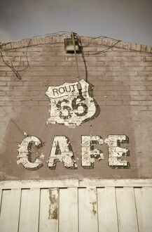 USA, Illinois, Route 66, Litchfield Route 66 Cafe