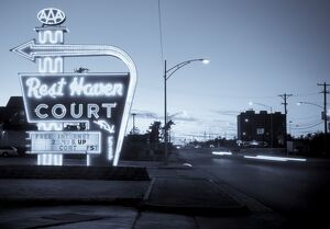 USA, Missouri, Route 66, Springfield, Rest Haven Court Motel