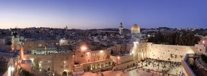 Wailing Wall / Western Wall, Dome of The Rock Mosque and panoramic view of the old